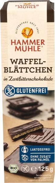 Bio Waffelblättchen in Zartbitterschokolade