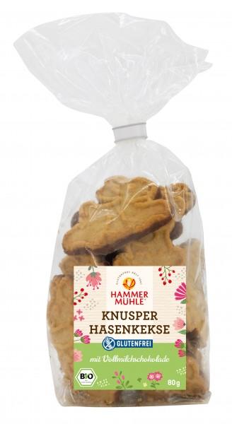 Knusper-Hasenkekse mit Vollmilchschokolade